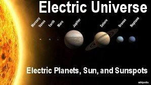 Link scene to video page: Electric Planets, Sun, and Sunspots.