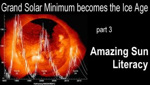 Link scene to video page: Grand Solar Minimum becomes the Ice Age part 3: Amazing Sun Literacy.